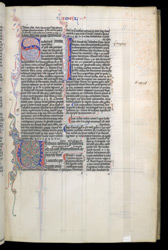 Decorated Initials To The Prologue And Book Of Joel, In A Glossed Twelve Minor Prophets And Job